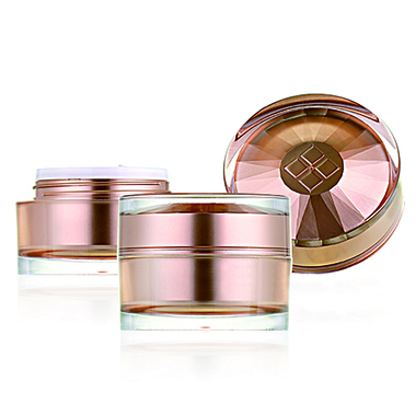 Diamond Round Lotion Containers